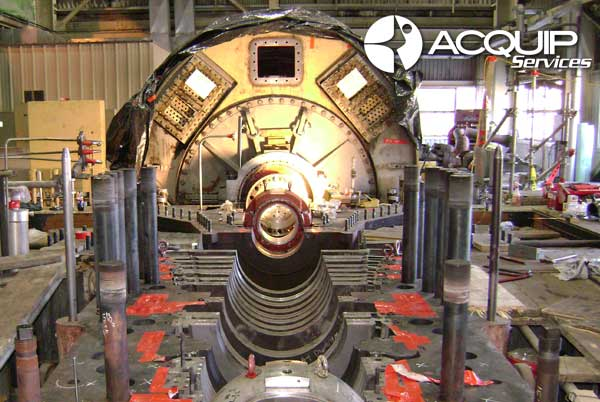 laser tracker steam turbine alignment