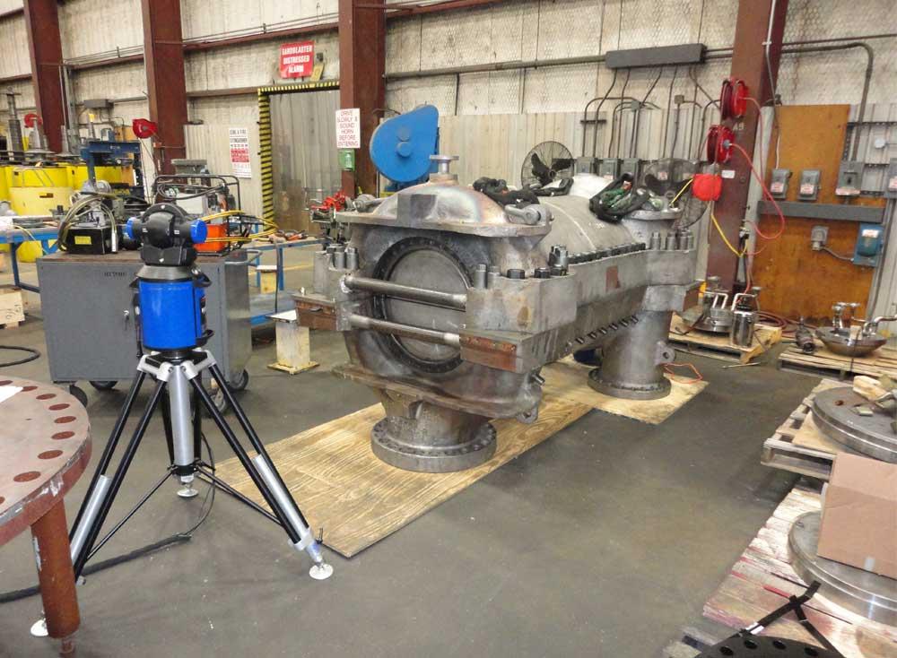 Compressor Overhaul Flatness measurement