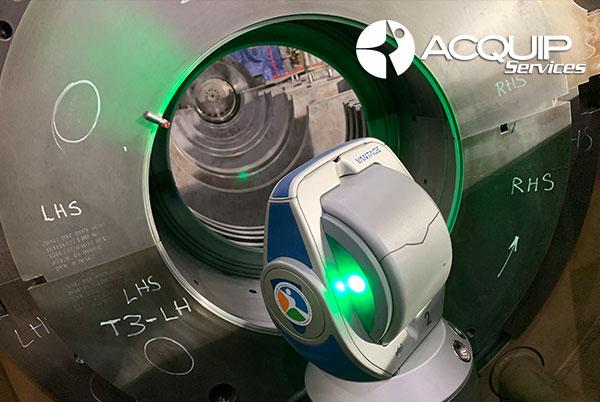 laser tracker steam turbine alignment